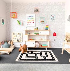 Like seriously when can I move in! This playroom from is beyond AMAZING! x Like seriously when can I move in! This playroom from Milka Interiors is beyond AMAZING! Modern Playroom, Colorful Playroom, Playroom Design, Playroom Decor, Kids Decor, Playroom Ideas, Home Decor, Baby Playroom, Decor Ideas