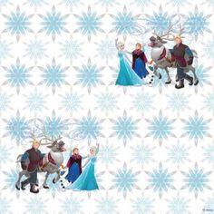 Frozen Elsa mintás tapéta