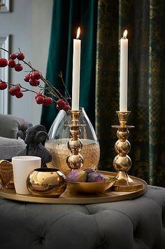 Tureholm TUREHOLM kynttilänjalka - Messinkiä - Sisustus - Jotex.fi Candle Holders, Candles, Interior, Kitchen Ideas, Brass, Trends, Top, Art, Bedroom