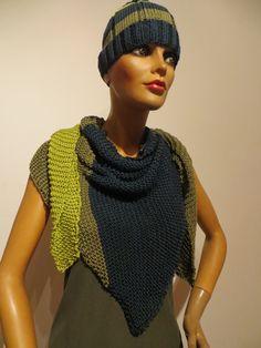 also with beanie, 90 % silk, varied Couture, Shawl, Beanie, Silk, Crochet, Fashion, Ponchos, Scarf Crochet, Handarbeit