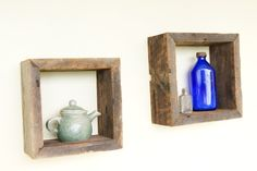 Reclaimed Rustic Wood Shadow Boxes by amberlysue on Etsy