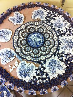 broken plate mosaic | When she got to feeling better, we were going to take a mosaic class ...
