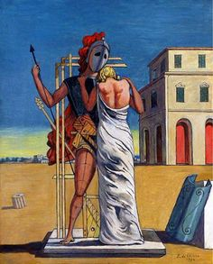 art-and-fury:Pianto d'Amore - Ettore e Andromaca - Giorgio de Chirico(see) De Chirico, Classic Art, Giorgio, Surreal Art, Metaphysical Art, Painting, Surrealism, Art, Italian Artist
