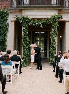 Wedding Ideas: lush-garland-wedding-ceremony-decorations