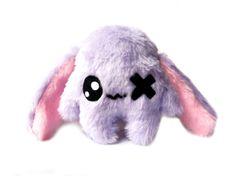 Kawaii  Plush Rabbit one Eye light Purple von Fluse123 auf Etsy