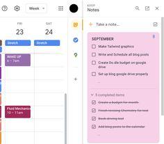 Calendar Organization, Teacher Organization, Google Training, Google Tricks, Teaching Technology, Educational Technology, Google Keep, 24 September, Time Management Skills