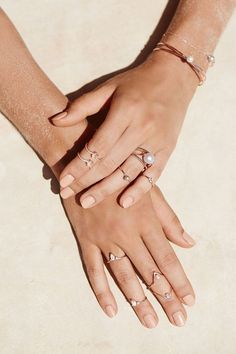 stacking rings by Samantha Wills