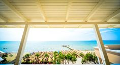 Featuring a restaurant and a private beach area, Hotel Klajdi is located in Durrës. It offers modernly decorated rooms with air conditioning. Albania, Restaurant, Windows, Beach, Holiday, Vacations, Seaside, Holidays, Restaurants