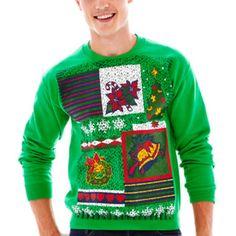 squared off fleece sweatshirt found at jcpenney ugly christmas sweater - Jcpenney Christmas Sweaters