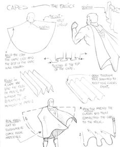 How to Draw - Tutorial: Drawing a Cape for Comic / Manga Panel Design Reference