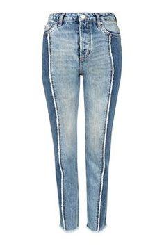 MOTO Panel Straight Leg Jeans