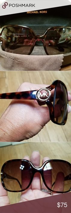 Michael Kors Sunglasses Perfect condition.  NO Scratches. With case and cleaning cloth MICHAEL Michael Kors Accessories Sunglasses