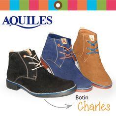 Los botines CHARLES tienen la versatilidad de adaptarse a diferentes momentos, siendo cómodos son unos grandes aliados esta temporada, encuentralos en nuestras Tiendas Aquiles