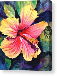 Tropical Bliss Hibiscus 2 Canvas Print Canvas Art by Marionette Taboniar Tropical Bliss Hibiscus 2 Canvas Print Canvas Art by Marionette Taboniar F tima Peron ftimaperon DEZENHOS Tropical Bliss Hibiscus 2 nbsp hellip flower Painting Tropical Flowers, Tropical Art, Hibiscus, Watercolor Flowers, Watercolor Paintings, Peony Painting, Flamingo Painting, Garden Wall Art, Yellow Wall Art