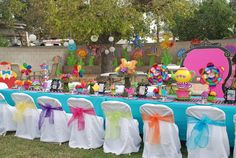 Colorful Alice in Wonderland Party.  #aliceinwonderland #partyideas See more party ideas at CatchMyParty.com.