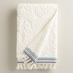 One of my favorite discoveries at WorldMarket.com: Emilia Sculpted Bath Towel