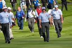 https://flic.kr/p/8EYVdR | Bubba Watson, Dustin Johnson, Rickie Fowler and Phil Mickelson on the 3rd | Ryder Cup 2010 1st Practice Day Celtic Manor Resort, Newport, Wales