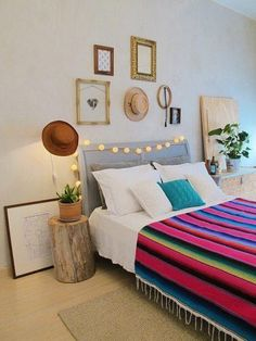 The Do's and Don'ts of Cool DIY Hipster Bedroom Decorations Ideas 1 final tip is to maintain your home clean and organised. Lastly, the entire house can be extended as and when necessary. There are lots of things to consider… Continue Reading → Mexican Home Decor, Mexican Bedroom Decor, Bohemian Bedroom Decor, Deco Design, New Room, Home Design, Room Inspiration, Bedroom Ideas, Bedroom Styles