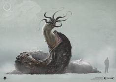 Disturbing mollusk beast