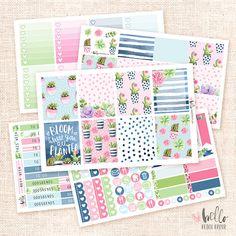 Succulents  Sticker Kit / 5 sheets watercolor planner