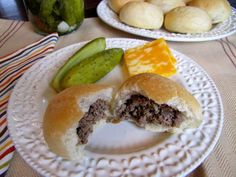 Mennonite Girls Can Cook: Meat Buns ~ Flashback Friday Amish Recipes, Dutch Recipes, Beef Recipes, Cooking Recipes, Recipies, German Recipes, Hamburger Recipes, Appetizer Sandwiches, Meat Appetizers