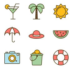 707 icon packs of summer Kawaii Doodles, Bff Gifts Diy, Drawing For Kids, Journal Stickers, Fruits Drawing, Homemade Stickers, Draw, Cartoon Sketches, Instagram