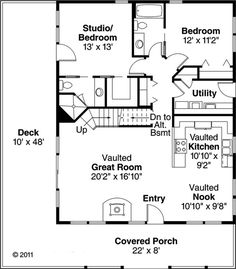 15 ideas house plans 1000 sq ft tiny homes for 2020 Family House Plans, Country Style House Plans, Country Style Homes, Tiny House Plans, Small House Plans Under 1000 Sq Ft, Small Cottage Plans, Cottage Style, Square House Plans, The Plan