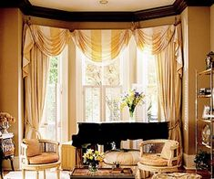 top bay window treatments | Bay Window Dressing…Window Treatment ideas for your bay window | No ...