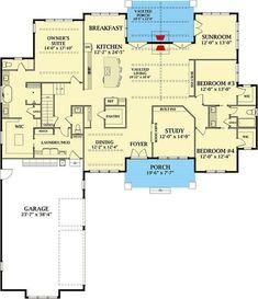 Grand Farmhouse House Plan with Optional Second Floor - 46332LA | Architectural Designs - House Plans