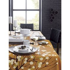 Marimekko Lumimarja Orange Tablecloth and Napkin in Outlet Dining & Entertaining | Crate and Barrel