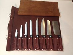 Leather knife roll by design2597 on Etsy, $165.00