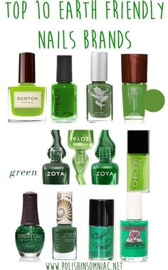 10 Earth Friendly Nail Brands Top Ten Earth Friendly Nail Brands for Earth Day!Top Ten Earth Friendly Nail Brands for Earth Day! Vegan Nail Polish, Green Nail Polish, Nail Polish Brands, Green Nails, Nail Polish Ingredients, Natural Antifungal, Friendly Nails, Organic Beauty, Natural Beauty