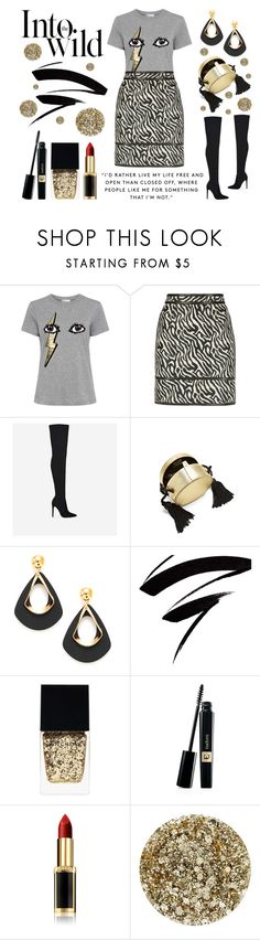 """Living Out Loud"" by latoyacl ❤ liked on Polyvore featuring RED Valentino, Dsquared2, Hillier London, Witchery, L'Oréal Paris, Smith & Cult and Anja"