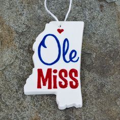Such a cute Ole Miss ornament.