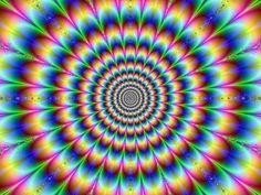 Psychedelic optical illusion that looks like it is pulsating.