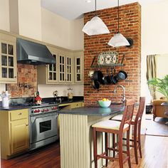 Exposed Brick In Kitchen And For The Home On Pinterest