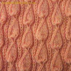 Free knitting patterns Bindweed