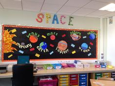 Space Planets Display, classroom display, class display, Space, planets, planet, Stars, moon, rocket, Early Years (EYFS), KS1 & KS2 Primary Resources