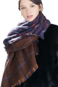 za Winter Brand Scarf Women 2016 Foulards Femme long Blanket Scarf Plaid Cashmere Scarf Women Pashmina Shawls and Scarves Wraps Tartan Plaid Scarf, Plaid Blanket Scarf, Cape Scarf, Long Scarf, Fringe Scarf, Scarf Wrap, Mens Cashmere Scarf, Womens Scarves, Blue Brown