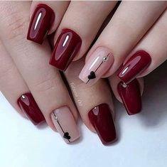 Nails Today, Nagellack Design, Short Nails Art, Short Red Nails, Pretty Nail Art, Red Nail Art, Nagel Gel, Gel Nail Designs, Stylish Nails