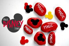 "Magic Disney Stones // Painted Rocks for Disneyland! So your kids can ""find"" a little bit of magic!"