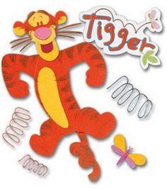 Disney Scrapbook, Scrapbook Stickers, Scrapbook Cards, Scrapbooking, Tigger Disney, Tigger Winnie The Pooh, Ek Success, Amazon Art, Sewing Crafts