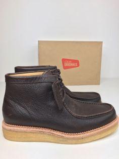 Bnwob-CLARKS-ORIGINALS-homme-Beckery-randonnee-desert-boot-chaussure-en-cuir-marron-uk-7