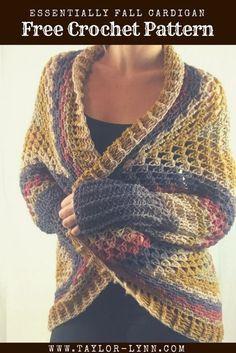 Crochet cardigan pattern. Simple shrug style using Mandala yarn