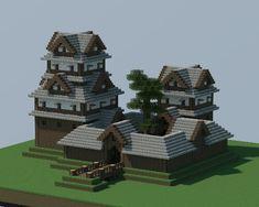 . #minecraftfurniture Minecraft Wall Designs, Minecraft Building Designs, Minecraft Structures, Minecraft House Tutorials, Minecraft Architecture, Minecraft Blueprints, Minecraft Creations, Minecraft Buildings, Building Ideas