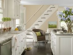 The New Neutrals: Paint Color Trends for 2014 - Benjamin Moore's Clay Beige on walls