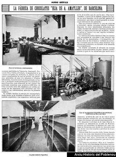 Reportaje de Mundo Gráfico de 1915 sobre la fábrica de chocolates Amatller, con fotografias interiores.Autor: Mundo Gráfico.AHPN.