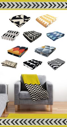 I love the yellow, black and white! These throws are so fun :-)