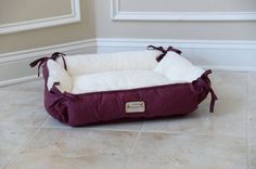 Canvas and Soft Plush • Size: Cat Bed or Extra Small Dog Bed • 2 in 1 Bed and Mat