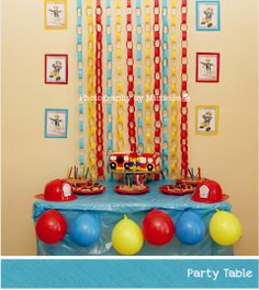 THIS PARTY WAS JUST TOO AMAZING NOT TO PIN IT. Photography by Michelle: Fireman Sam Party!